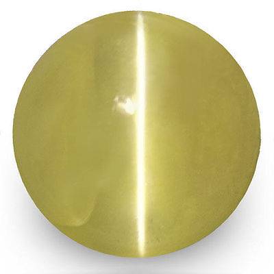1.18-Carat Brownish Yellow Chrysoberyl Cat's Eye from Sri Lanka (IGI-Certified)