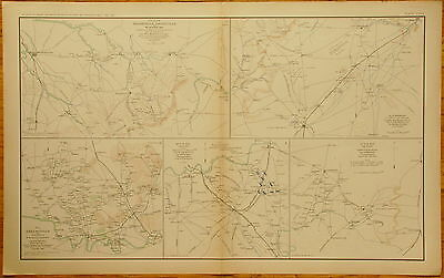 Authentic Civil War Map ~ Middle Tennessee Campaign - 1862