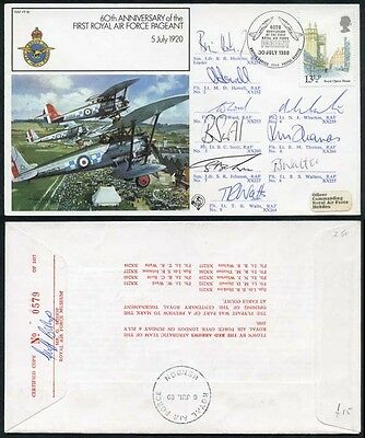 FF19c 60th Ann of the 1st RAF Pageant Signed by Red Arrows Team