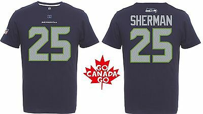 NFL Football T-Shirt SEATTLE SEAHAWKS Richard Sherman #25 navy Eligible Receiver