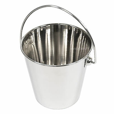Set of 6 Stainless Steel French Fry Chip Food Serving Cups Bowls Dishes Buckets