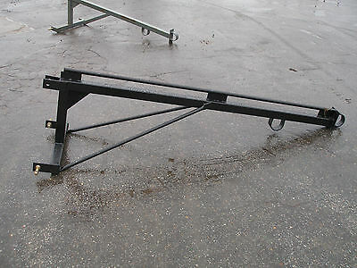 New 3 Point Hitch Boom Pole Black  # 0949
