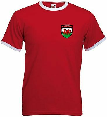 Wrexham FC Football Club Retro Style Red football Soccer T-Shirt - All Sizes