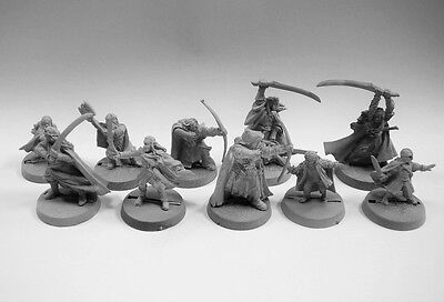 Lord of the Rings unpainted metal miniature  Lot 112115 (10 minis)