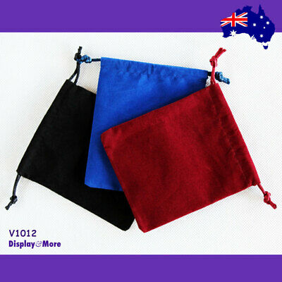 100 DOUBLE Sided Velvet Jewellery Gift Pouch Bag-10x12cm | AUSSIE Seller