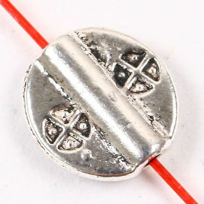100pcs Tibetan Silver Ellipse Spacer Beads Jewelry Craft Findings
