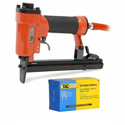 Air Staple Gun A14014V & 5000 10mm Staples 0342 Kit Stapler Stapling Tacwise NEW