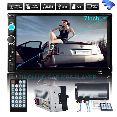 "7""HD Double 2DIN Car Stereo MP5 Player Bluetooth Touchscreen MP3 FM Radio USB SD"