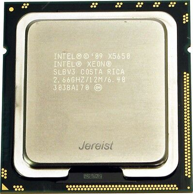 Intel Xeon Six Core X5650 2,66GHz Sockel LGA 1366 12MB 3200MHz Cache SLBV3