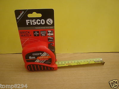 Fisco 8M Brick Mate Tape Measure Bm8M
