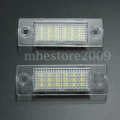 LED Rear License Number Plate Light  For VW Caddy Golf Passat Touran Free Error
