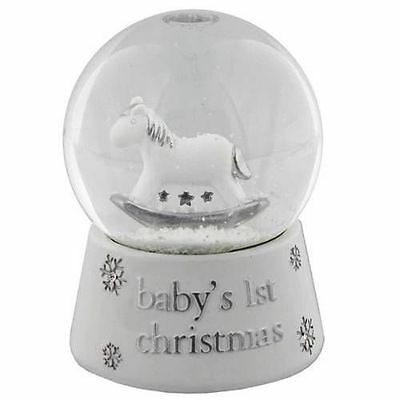 Baby's First 1st Christmas Waterball Snow Globe water Ball Gift CG1119