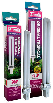 Arcadia Original Tropical Arc 9W 11W Replacement Bulb Light Aquarium Fish Tank