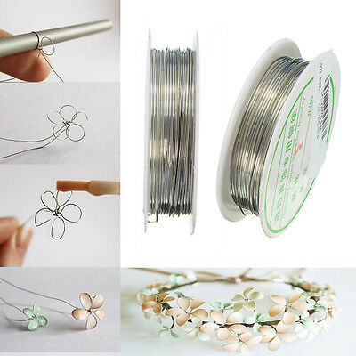 Roll of 20/22 GAUGE Sliver Plated Copper Wire Beading Jewelry DIY 0.6/0.8mm HOT