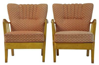 PAIR OF 1950's 20TH CENTURY BIRCH EASY ARMCHAIRS