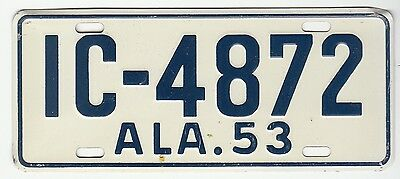 [57604] 1953 General Mills Cereal Prize Alabama License Plate