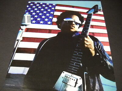 LENNY KRAVITZ plays guitar AMERICAN FLAG 1999 Promo Poster Ad mint condi