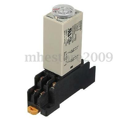 AC 220V H3Y-2 Power On Time Delay Relay Solid-State Timer 1.0~30Min DPDT Socket