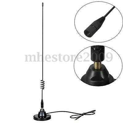 Antenne Ressort inoxydable Magnétique Base 477 Mhz 4.5dB UHF CB 630MM Auto