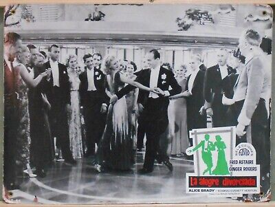 WL28 THE GAY DIVORCEE FRED ASTAIRE GINGER ROGERS rare Big SPANISH Lobby Card A