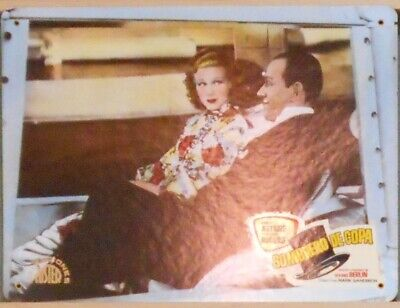 WL10 TOP HAT FRED ASTAIRE GINGER ROGERS rare Big SPANISH Lobby Card B