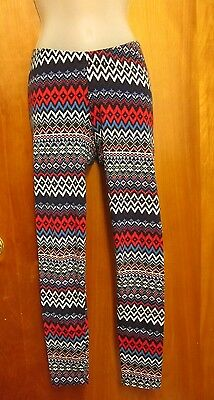COPPER KEY spandex leggings Hopi Kachina design juniors small Navajo manta