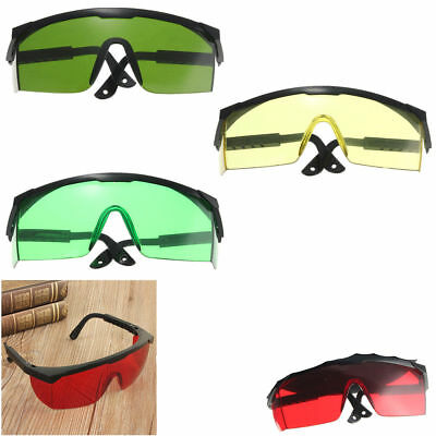 NEW Eye Safety Hard Glasses for Red Blue Green Laser UV Light Protection Goggles