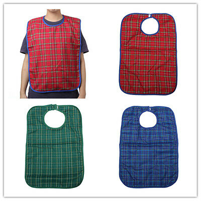 Waterproof Adult Mealtime Bibs Protector Disability Dining Aid Clothes Bib NEW
