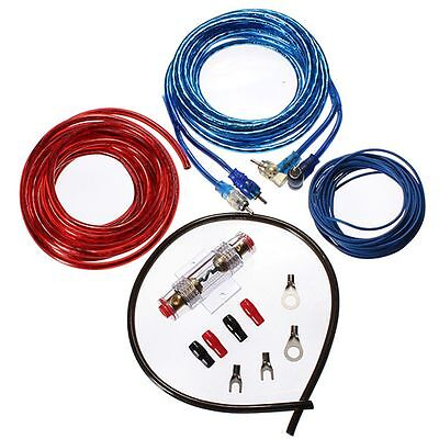 500W 8GA Car Audio Subwoofer Amplifier AMP Wiring Fuse Holder Wire Cable Kit New
