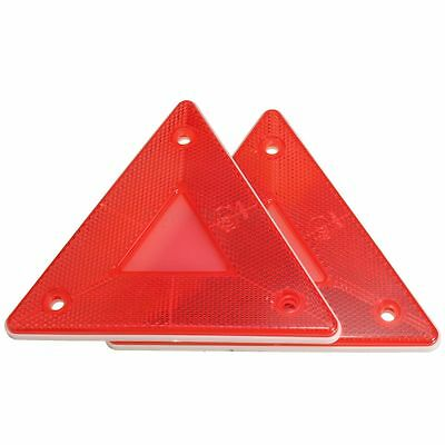 Pairs Red Triangular Side Red Reflectors For Rear Triangle Truck Trailer Caravan
