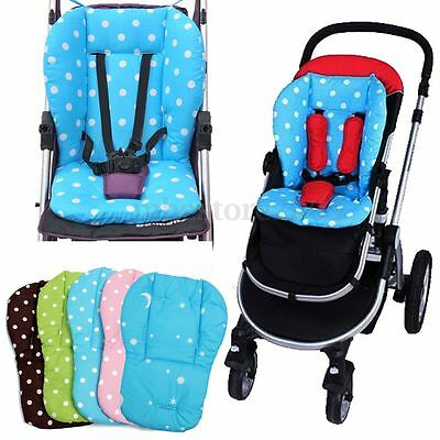 Baby Infant Pushchair Cushion Thick Colorful Stroller Car Seat Cotton Cover Mat