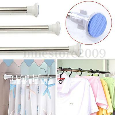 Extendable Stainless Steel Adjustable Tension Door Bathroom Shower Curtain Rod
