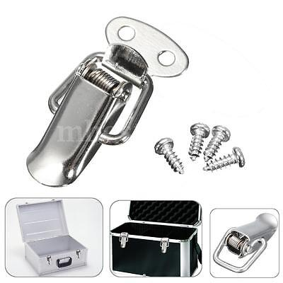 Stainless Steel Cabinet Box Case Spring Loaded Latch Catch Toggle Hasp Loop 1.6""