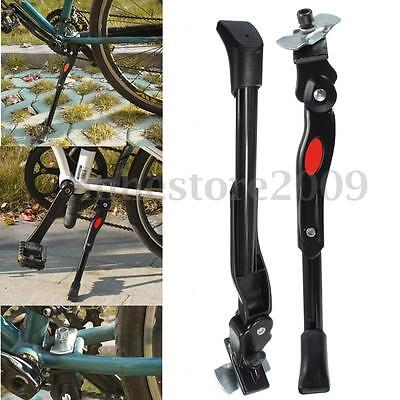 Black Aluminum Adjustable Bike Side Kick Middle Bicycle KickStand Replacement