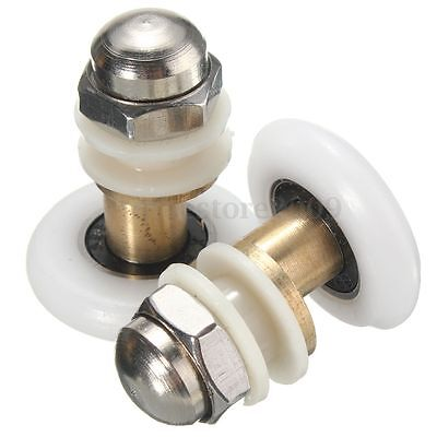 New Bathroom Bottom Shower Door Rollers Runners Pulleys Single Wheels 25mm