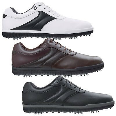 Footjoy Mens Awd Leather Waterproof Golf Shoes -New Fj Classic Casual Style 2015