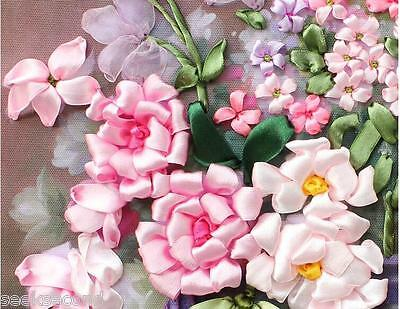 Ribbon Embroidery Kit Scent Flowers Needlework Craft Kit RE3012