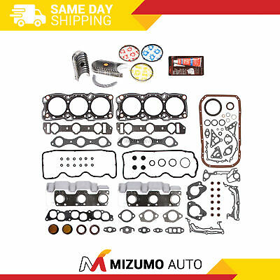 Fit 88-00 Chrysler Dodge Mitsubishi Plymouth 6G72 Full Gasket Set Bearings Rings