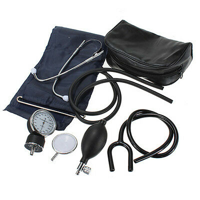 Adult Size ANEROID  Blood Pressure BP Cuff Set Sphygmomanometer Stethoscope Kit