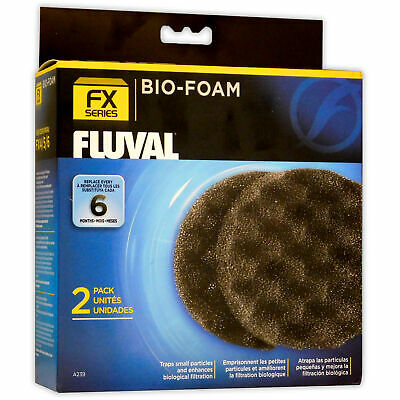 Fluval Fx5 Fx6 External Filter Bio-Foam 2Pk Aquarium Fish Tank Replacement Media