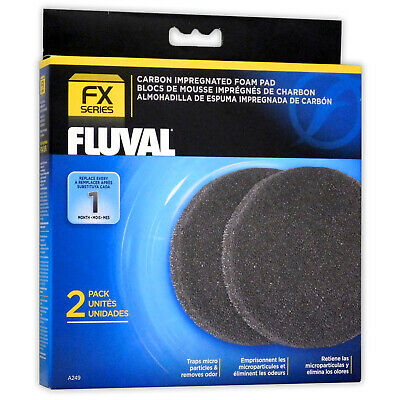 Fluval Fx5 Fx6 External Filter Carbon Foam 2 Pack Aquarium Fish Tank Media A249