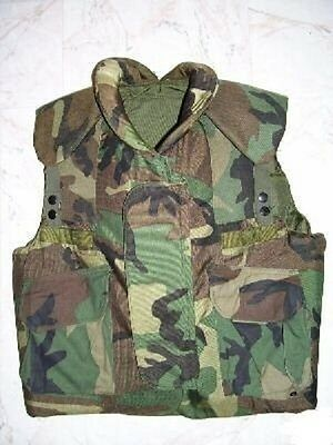 US Army PASGT Kevlar Weste Body Flag Vest woodland camouflage