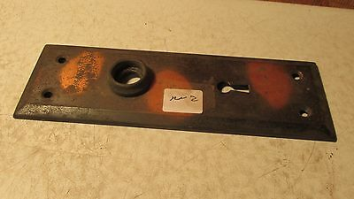 1 Antique Stamped Steel Door Plate  No. 2