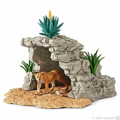 Schleich 42256 Cave Set Lioness Wildlife Animal Toy Figurine Habitat - NIB