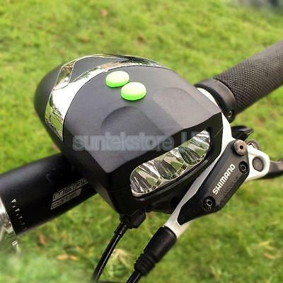 Bike Bicycle Cycling 4 Sounds 3 LED Siren Electric Light Horn Bell Black