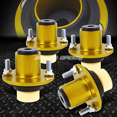 RDT Gold Aluminum Coilover Extended Top Hats for 1996-2000 Honda Civic EK
