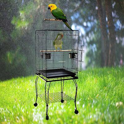 Bird Cage Pet Parrot Cage mit 2 large stainless steel feeders for food ,water