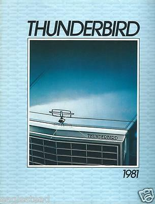 Auto Brochure - Ford - Thunderbird - 1981- FRENCH language  (AB758)