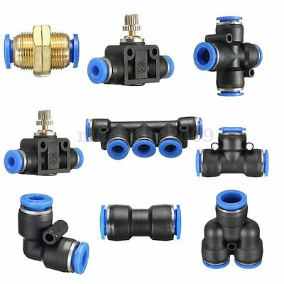 Pneumatic Push In Fittings for Air/Water Hose & Tube All Sizes Available
