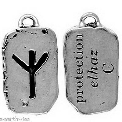 ELHAZ PROTECTION RUNE CHARM PENDANT - Wicca Pagan Witch Goth NORSE CHARM